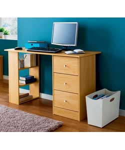 malibu 3 Drawer Desk - Beech Finish