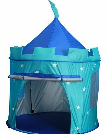 Childrens Pop Up Castle - Suitable for Indoor & Outdoor Use : Boys Blue Toy Play Tent / Playhouse / Den