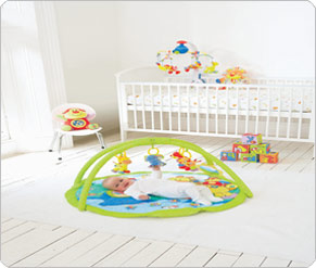 Mamas and Papas Happy Safari Playmat And Gym