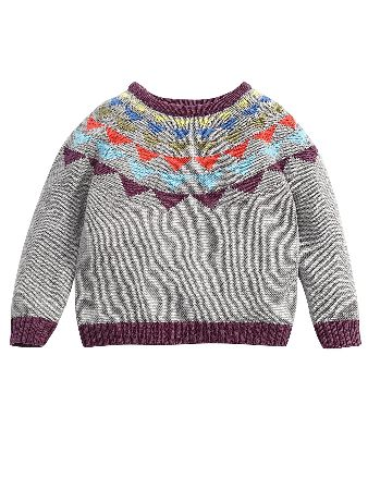 MAMAS AND PAPAS Mamas Papas Patterned Neck Jumper