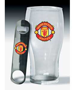 United Pint Glass and Bottle Opener