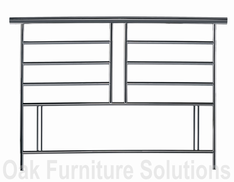 Black Nickel Headboard - 135cm -