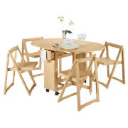 Butterfly Table & 4 Chairs, Natural