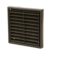 MANROSE Square Brown 140mm Louvre Vent