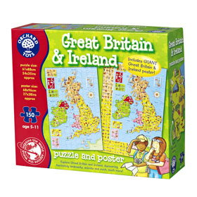 of Great Britain Jigsaw Puzzle - Buy 2 Orchard Toys games, get Chicken Out for free