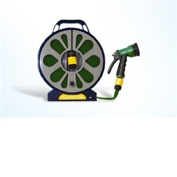 - 50 Flat Hose on Reel with Spray