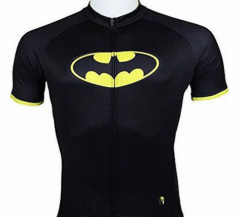Mens Batman Short Sleeve cycling jersey, Perfect Perspiration Breathable mountain clothing bike top /Mens Cycling Jersey Riding Clothes (XL)