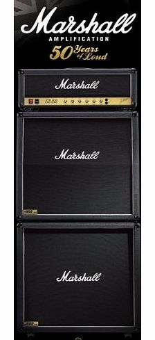 Marshall Celebrate 50 Years of Marshall Amps with this Fantastic Door Poster 53cmx158cm
