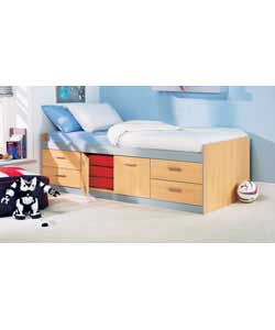 Cabin Bed with Anti-Dustmite Mattress