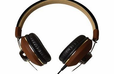 Maxell DJ2 MXH-HP 600 Retro Over-Ear Headphones with Microphone Sensitivity 95  /- 3dB Brown