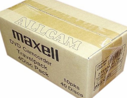 Maxell mini DVD-RW blank rewritable media in slim Case (40 discs of 8cm DVD-RW) for DVD camcorders or general data storage