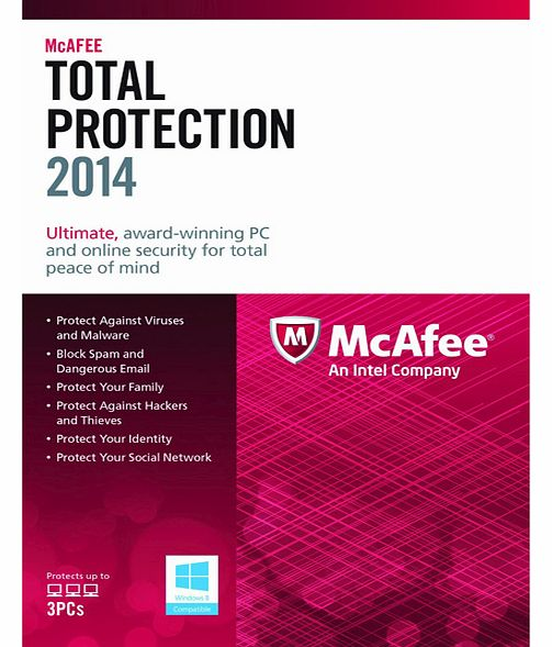 McAfee Total Protection 2014 (PC) - 3 Users
