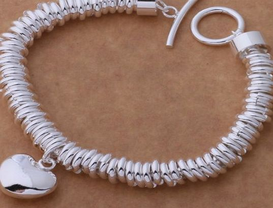 New Fashion Beautiful 925 Silver elegant Bracelet, bracelet / bangle,jewellery classic design for Women,Teen Girls,Lady.Arrives in a pretty gift bag.