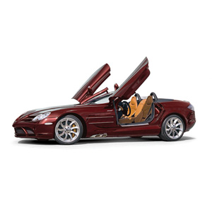 McLaren Mercedes SLR Roadster 2007 Red