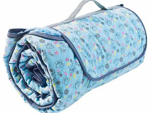 Roll Up Pet Blanket - Blue