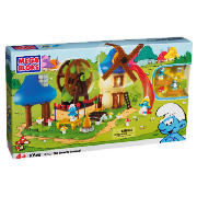 Bloks Smurfs Large Playset Smurf Buildable