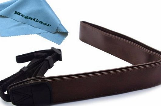 Brown Leather Digital SLR Camera, Camcorder Neck Shoulder Straps for Canon, Nikon, Samsung, Olympus, Sony, Fujifilm, Panasonic