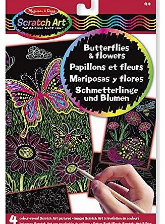 Melissa and Doug Color-Reveal Pictures Butterfliesand Flowers