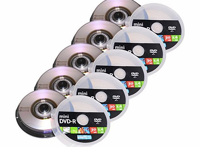 Memorex 50 8cm Mini Blank DVD-R Discs with Duralayer Technology Disc for scratch resistance (Media Code RITEK GO4 RITEKGO4) Ideal for Mini DVD Camcorders and Backups