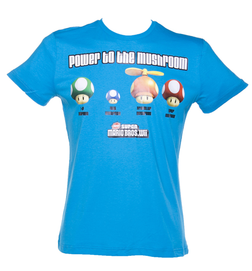 Blue Power To The Mushroom Nintendo