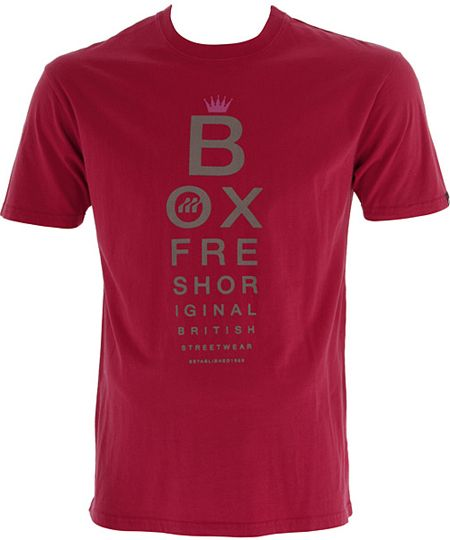 Boxfresh Leppard Red Mens T-Shirt