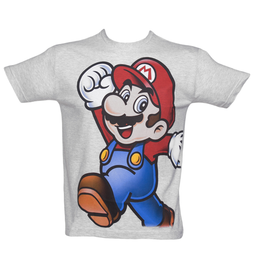 Super Mario Punching The Air Grey