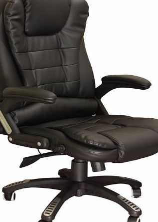 Meriden Furniture Company Ltd Exectuve Recline Extra Padded Office Chair in 3 Colors (Black)