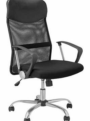 and Leather Effect Headrest Office Chair -