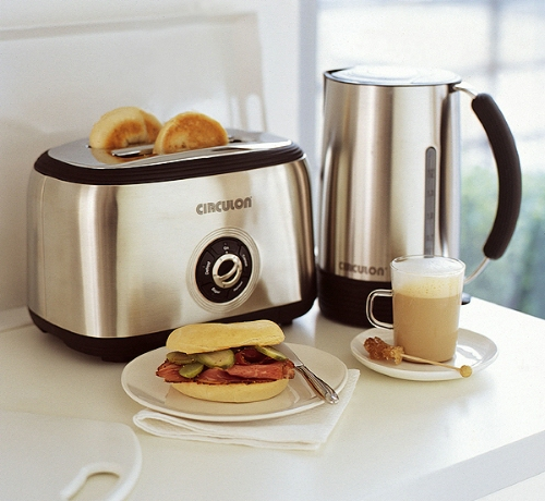 Meyer Prestige Circulon Kettle and Toaster Set