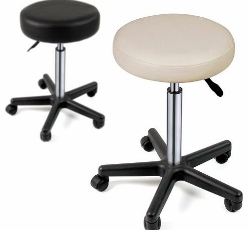 Miadomodo® Miadomodo VBHK01 1st Adjustable Stool with Wheels 63 - 86 cm Synthetic Leather Choose from Various C