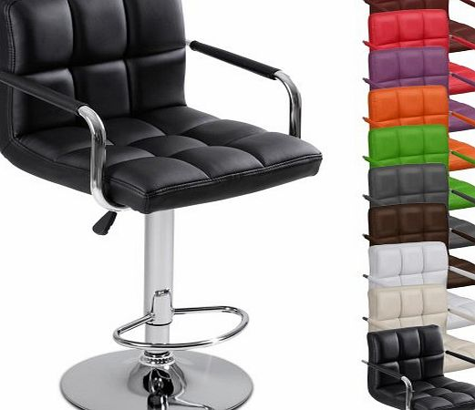 Miadomodo® LBHK03 Single Bar stool with Armrest DIFFERENT COLOURS (Black)