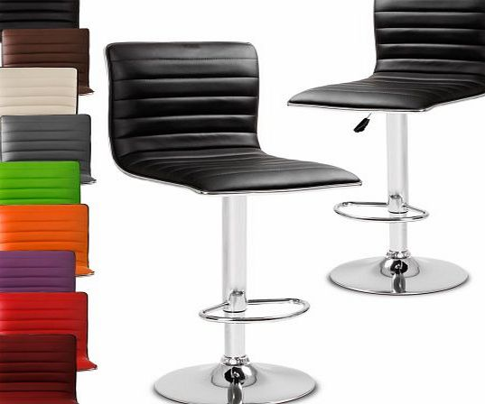 Miadomodo® LBHK05 Two Bar Stools DIFFERENT COLOURS (Black)