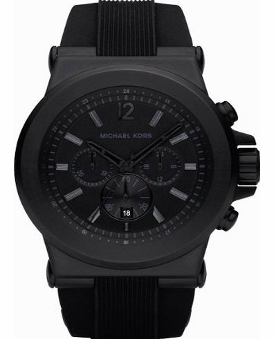 Mk8152 Gents Watch with Black Rubber Strap and Black Dial