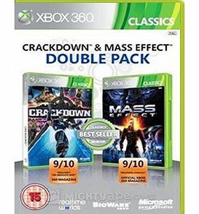 CRACKDOWN AND MASS EFFECT DOUBLE PACK on Xbox 360