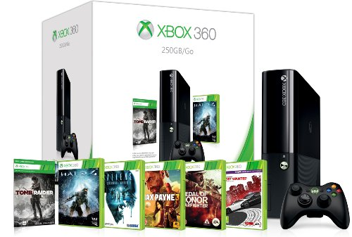 Xbox 360 250GB Console with Six Game Mega Pack (Xbox 360)