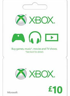 Xbox LIVE £10 Gift Card