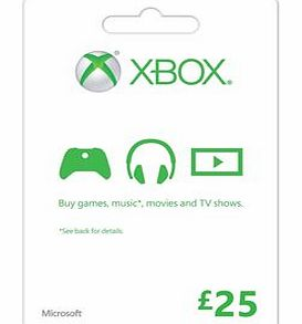 Xbox Live £25 Gift Card on Xbox One