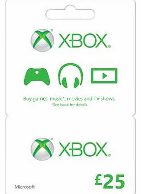 Xbox LIVE £25 Gift Card