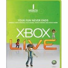 Xbox Live 1 Month Gold Membership Digital