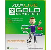 Xbox Live 12 Month Gold Membership Card on Xbox