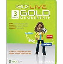 Xbox Live 3 Month Gold Membership Card on Xbox 360
