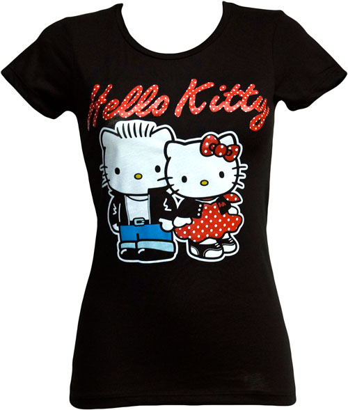 Mighty fine rockabilly hello kitty ladies t shirt from for Hello kitty t shirt design