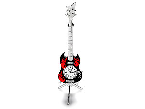 Black And Red Gibson Electric Guitar And
