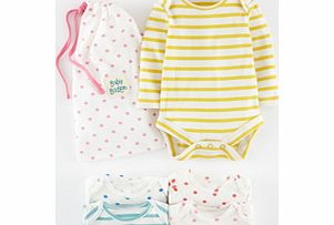 Mini Boden 5 Pack Bodies, Spot/Stripe,Star Print,Wide