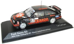 Minichamps 1:43 Scale Ford Sierra RS 1st Place Nuerburgring 1987 TEXACO - Ltd Ed 1-632 pcs - Ludwig / Niedzwied