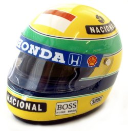 1:8 Scale Shoei Senna Helmet 1992