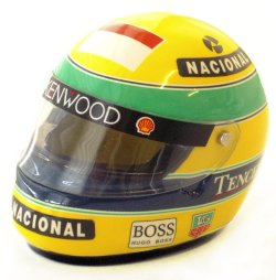 1:8 Scale Shoei Senna Helmet 1993