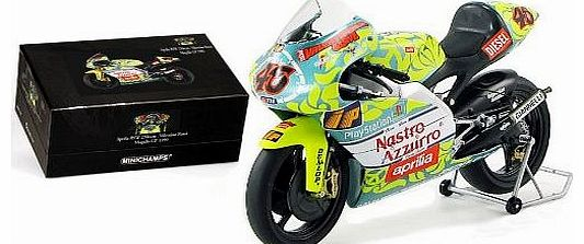 Diecast Model Aprilia 250 CCM (V. Rossi - 1999) (1:12 scale by Minichamps) in Yellow