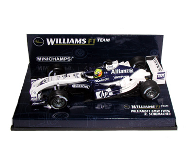 WilliamsF1 BMW FW26 R. Schumacher 2004 in White