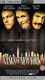 Miscellaneous Gangs Of New York UMD Movie PSP